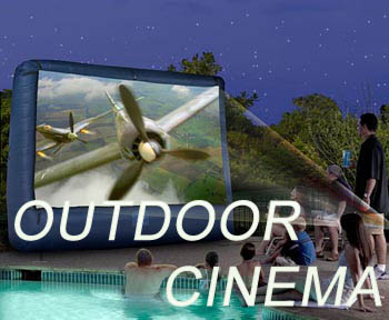 Houston Projector and inflatable screen rentals indoors and outdoors